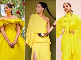 Celebrity Style,deepika padukone,kareena kapoor khan,yellow