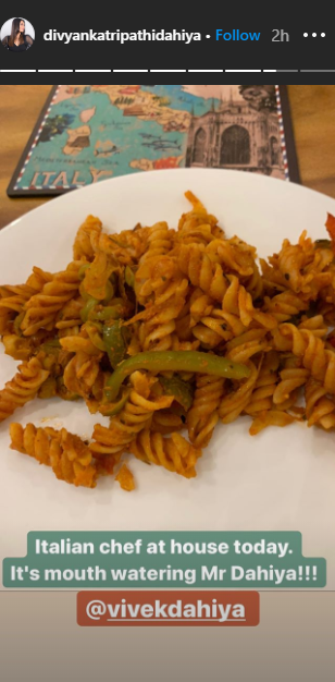 Divyanka Tripathi is all praises for husband Vivek Dahiya as he cooks some mouth watering pasta for her 2