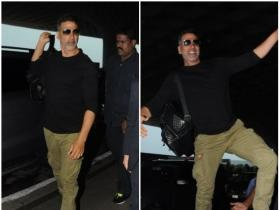 Akshay Kumar is all smiles while getting papped at the airport