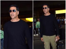 Akshay Kumar papped at the airport