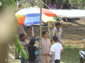 Akshay Kumar snapped on the sets of Gold