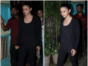 Alia Bhatt papped post physiotherapy session