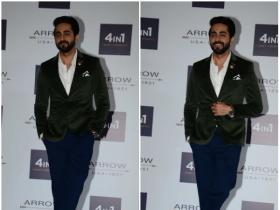 Ayushmann Khurana clicked by the paps at an event