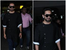 Ayushmann Khurrana snapped at the airport