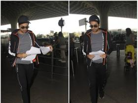 Ayushmann Khurrana snapped at the airport with family