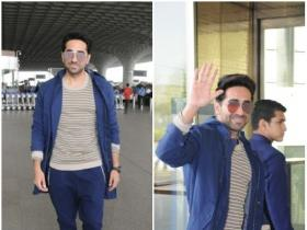 Ayushmann Khurrana snapped by the paps in the city