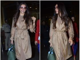 Deepika Padukone gets snapped by the paps at the airport