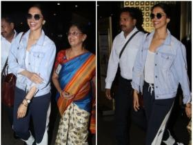Deepika Padukone is all smiles while getting papped at the airport