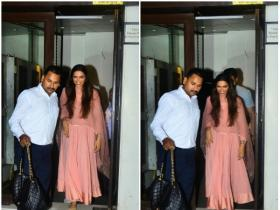Deepika Padukone snapped outside a restaurant in the city