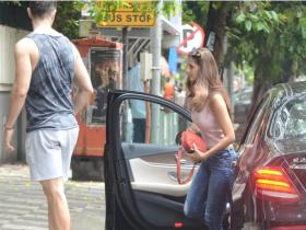Disha Patani gets snapped by the paps in the city