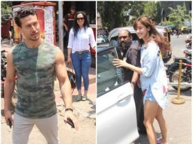 Disha Patani spotted in the city with Tiger and his family