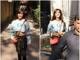 Disha Patani spotted outside salon