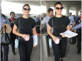 Jacqueline Fernandez keeps it stylish at the airport