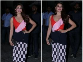 Jacqueline Fernandez snapped at Race 3's screening