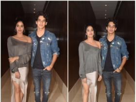 Janhvi Kapoor and Ishaan Kapoor snapped by the paps at Dhadak promotions
