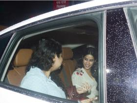 Janhvi Kapoor attends Dhadak's screening with step-sister Anshula Kapoor