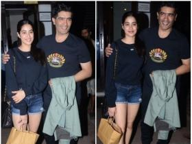 Janhvi Kapoor dines out with close family friend and designer Manish Malhotra