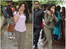 Janhvi Kapoor gets clicked by the shutterbugs post meeting