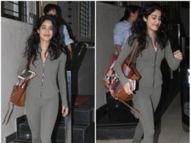 Janhvi Kapoor papped post meeting in the city