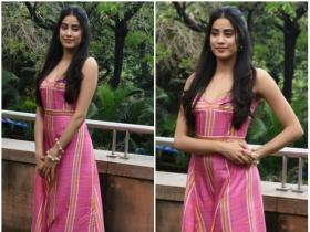 Janhvi Kapoor promotes her B-town film Dhadak in style