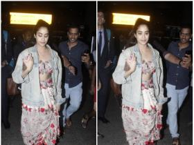 Janhvi Kapoor snapped at the airport