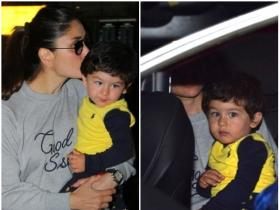 Kareena Kapoor Khan and her adorable munchkin Taimur papped at the airport