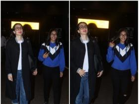 Karisma Kapoor and daughter Samiera snapped at the airport