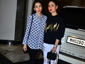 Karisma Kapoor steps out in the city with sister Kareena