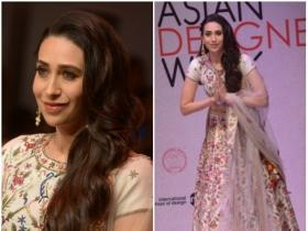 Karisma Kapoor walks down ramp at an event