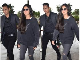 Katrina Kaif is all smiles while getting papped at the airport