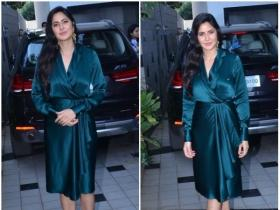 Katrina Kaif looks ravishing in a green outfit as she gets papped in the city