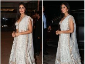 Katrina Kaif makes a stylish appearance at Poorna Patel's wedding reception
