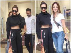 Malaika Arora Khan and Sussanne Khan are all smiles while getting papped