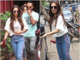 Malaika Arora Khan gets papped outside a recording studio
