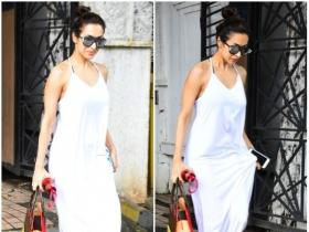 Malaika Arora Khan gets snapped by the paparazzi post salon session