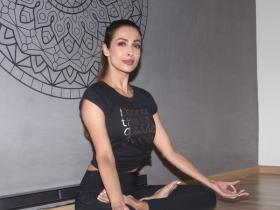 Malaika Arora Khan keeps it stylish at the launch of her yoga class