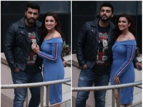 Parineeti Chopra and Arjun Kapoor promote Namaste England in the city