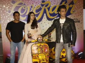 Salman Khan attends Loveratri's trailer launch in style