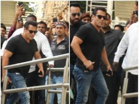 Salman Khan clicked at Race 3's song launch