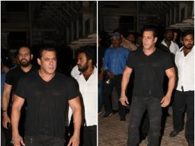 Salman Khan gets papped at Race 3 screening