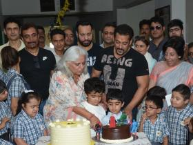Salman Khan is all smiles while inaugurating a children's centre in Jaipur
