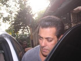 Salman Khan papped outside dubbing studio