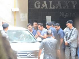 Salman Khan papped outside his home