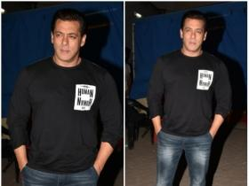 Salman Khan spotted outside a film studio