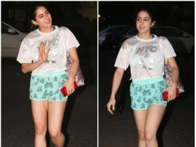 Sara Ali Khan gets papped oustide her yoga class