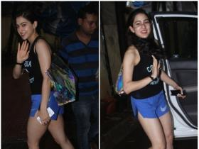Sara Ali Khan gets papped post gym session