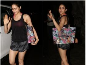 Sara Ali Khan gets snapped by the paparazzi outside gym