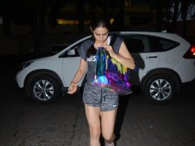 Sara Ali Khan gets snapped post gym session