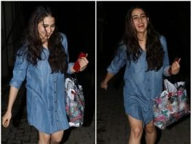 Sara Ali Khan is all smiles as gets papped while leaving her yoga class