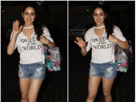 Sara Ali Khan is all smiles as she gets papped outside the gym